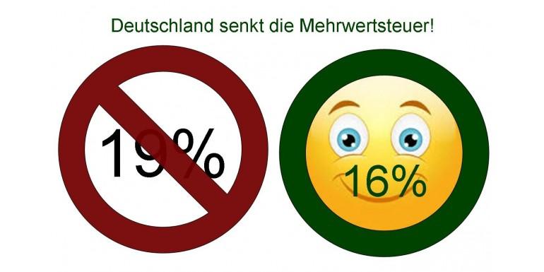 Deutschland senkt die Mehrwertsteuer