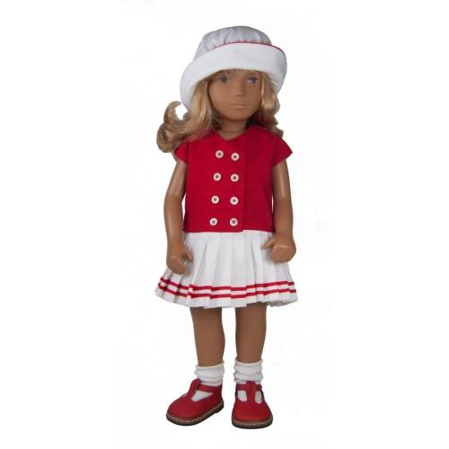 Sailorette dress red and white 40cm
