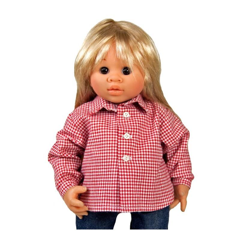 """12/"""" Wichtel  dolls Boneka Hawaiihemd blau// Hawaiian shirt blue for 32cm"""