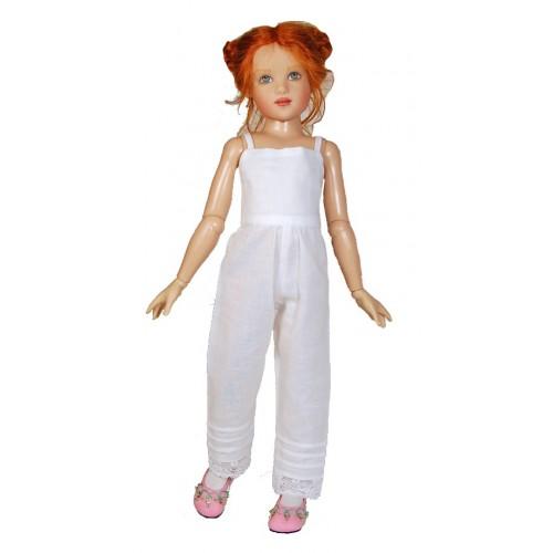 Gerüschte lange Hemdhose Kate Greenaway Stil 33cm