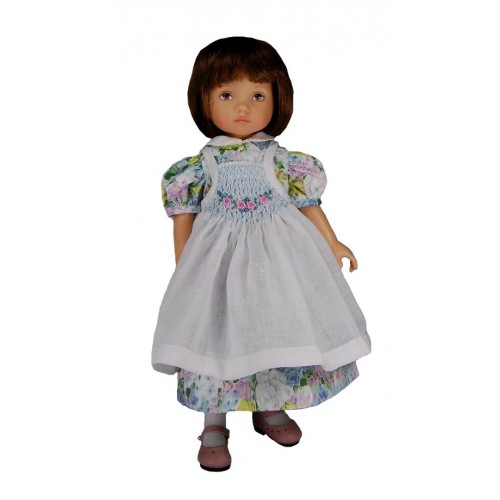 Dress with smocked pinafore