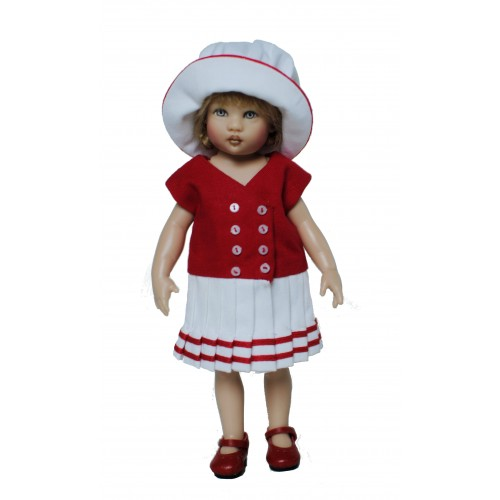 Sailorette dress red and white
