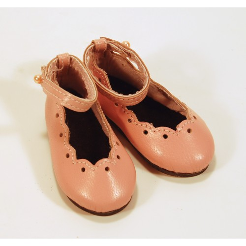 Strapped Ballerinas with hole punch 65AA