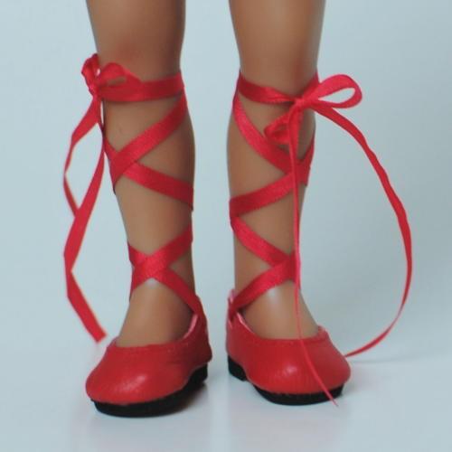 Ribbon laced Ballerinas 38N