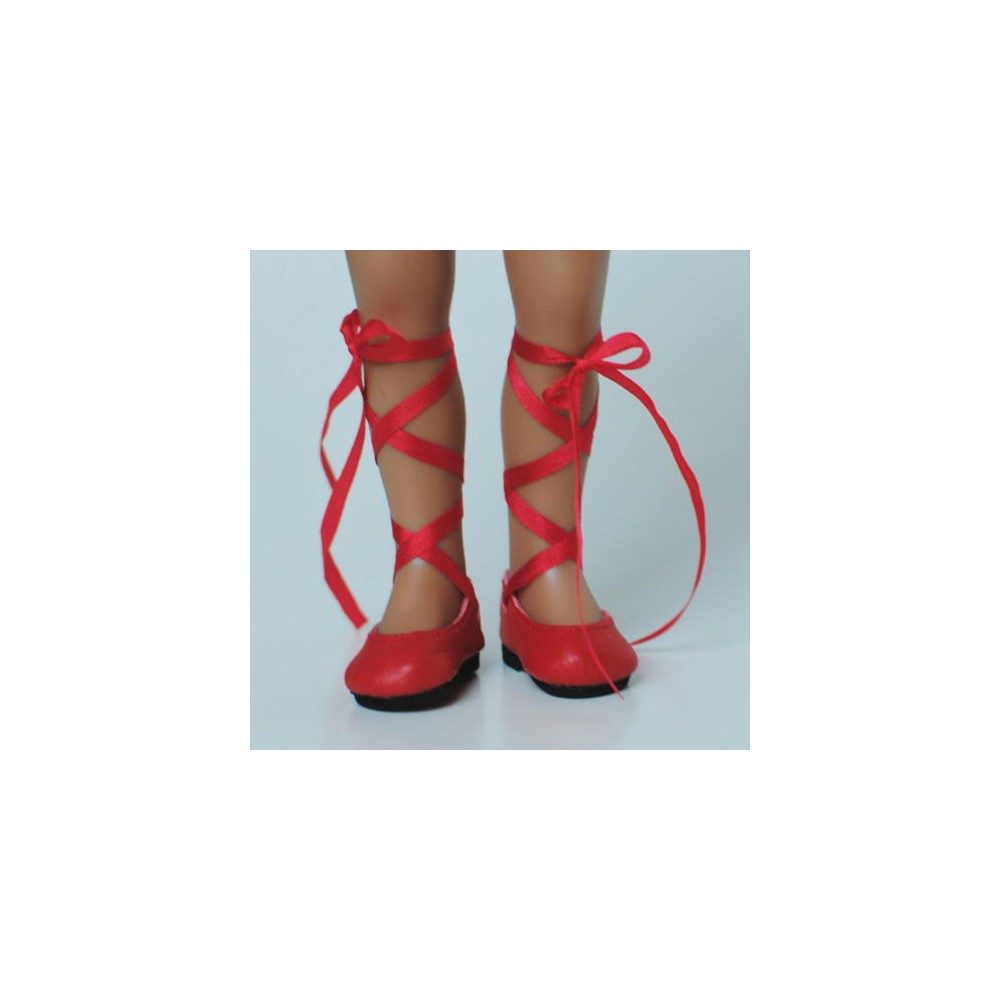 Doll Shoes 75mm LIGHT GREEN T-Straps