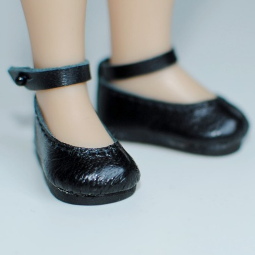 Strapped Leather Ballerinas 38N