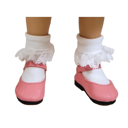 Lace trim cotton socks 53N