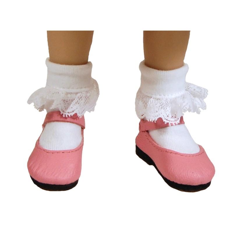 Lace trim cotton socks 53N
