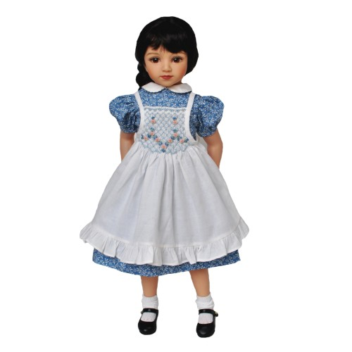 Dress with smocked pinafore 49cm
