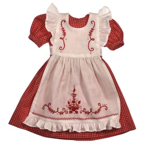 Kleid mit Schürze 49cm