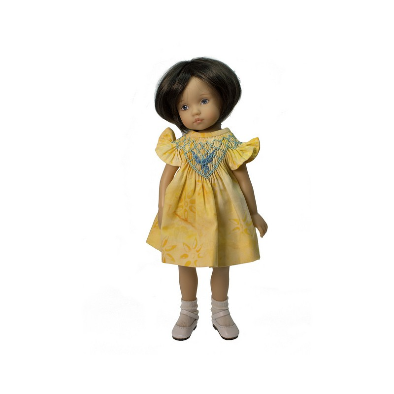 Yellow Smockdress with bloomers 24cm