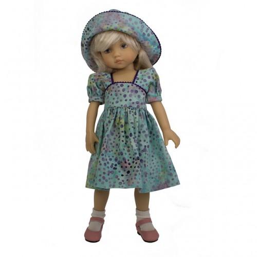 Kleid mit Hut 24cm