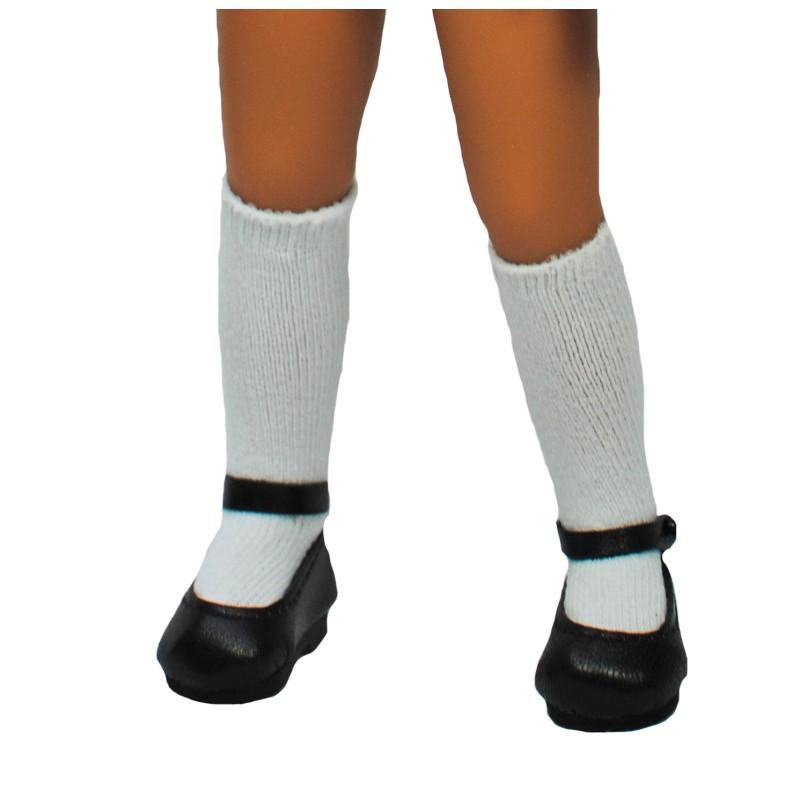 White cotton stockings 35-53mm