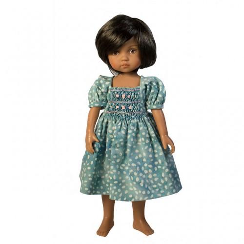Smocked Batik Dress 33cm