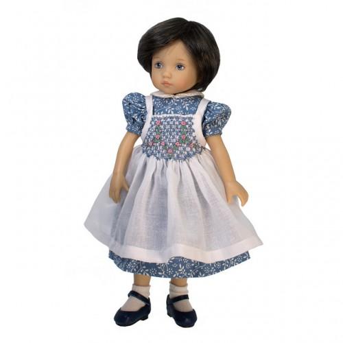Kleid mit Smok-Schürze 24cm