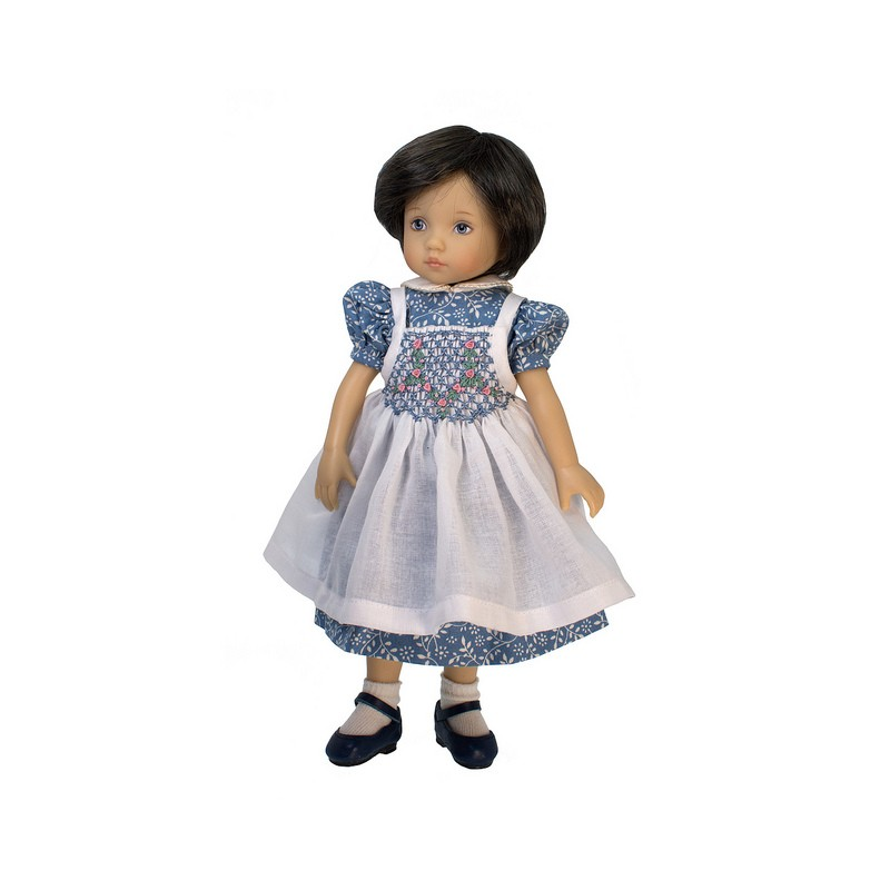 Dress with smocked pinafore 24cm