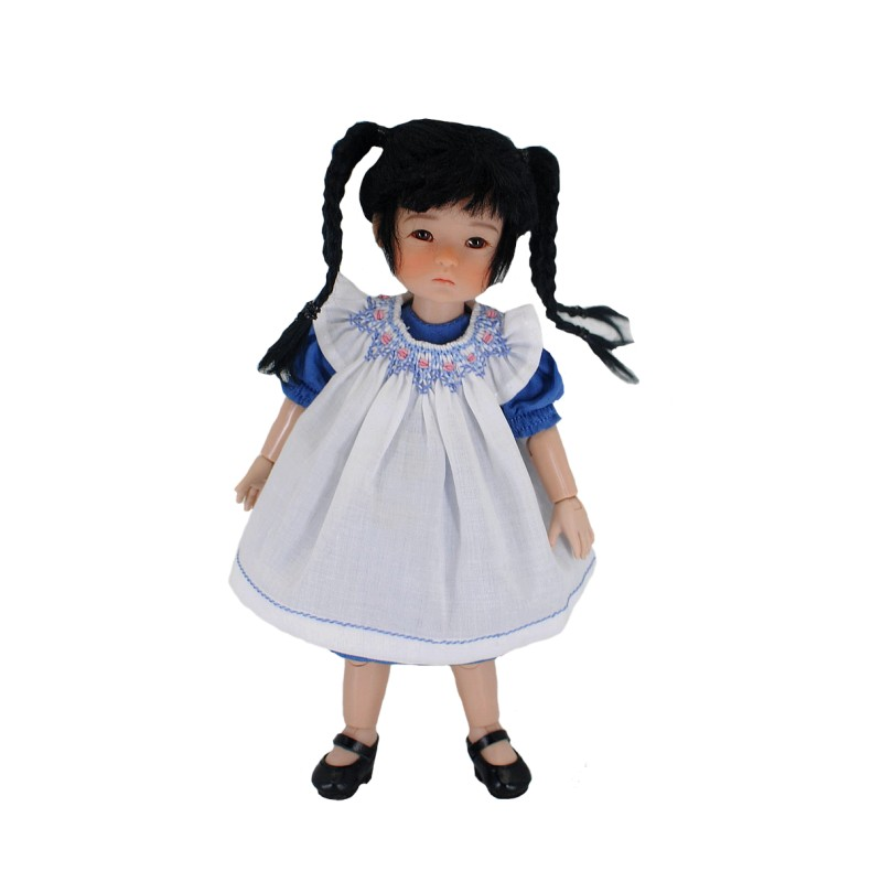 Dress with smocked pinafore 20cm