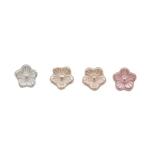 Perlknöpfe Blumen10mm