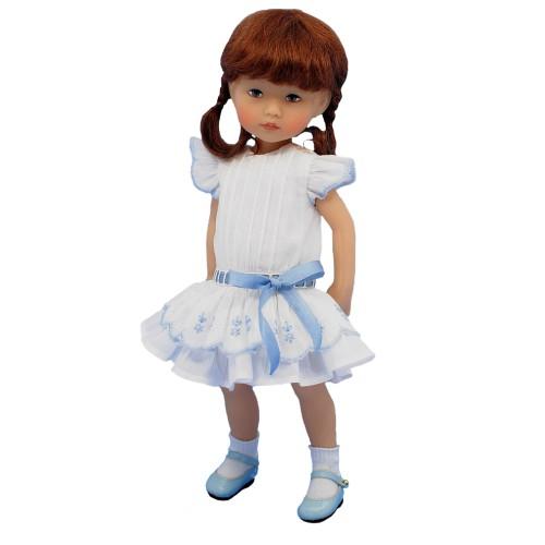 Vintage Kleid weiß 24cm
