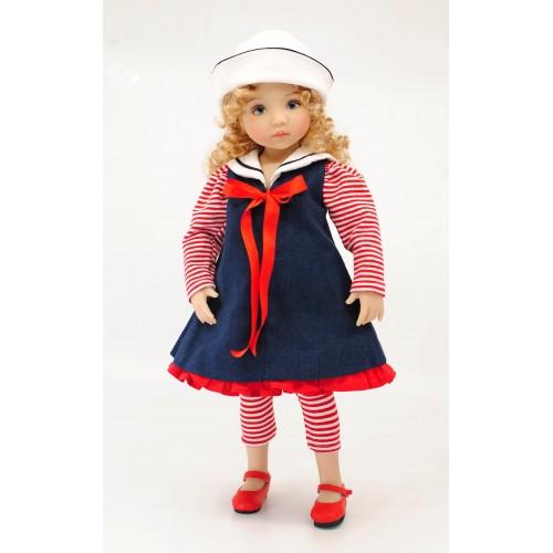 Dress set sailorette blue 33cm