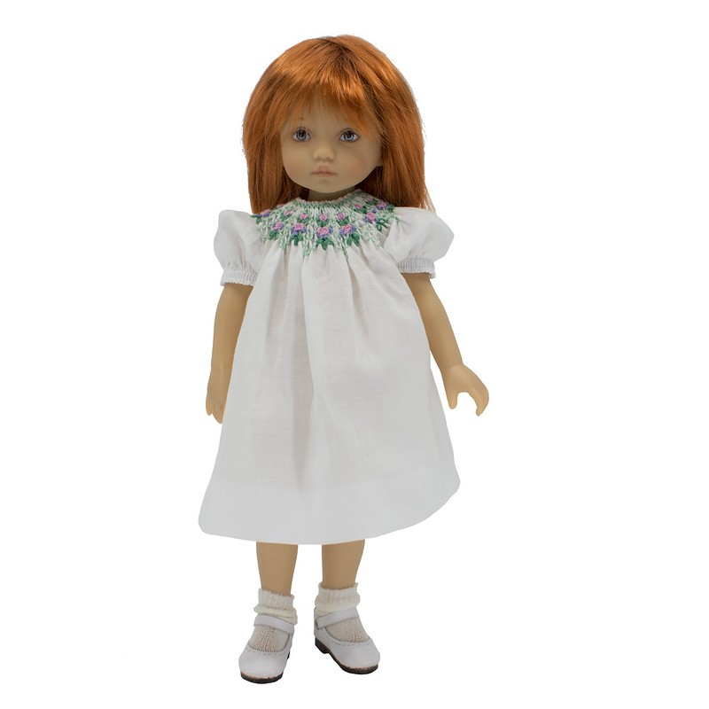 Round smocked bishop dress 24 cm