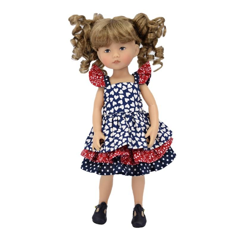 Ruffled summer dress 24 cm
