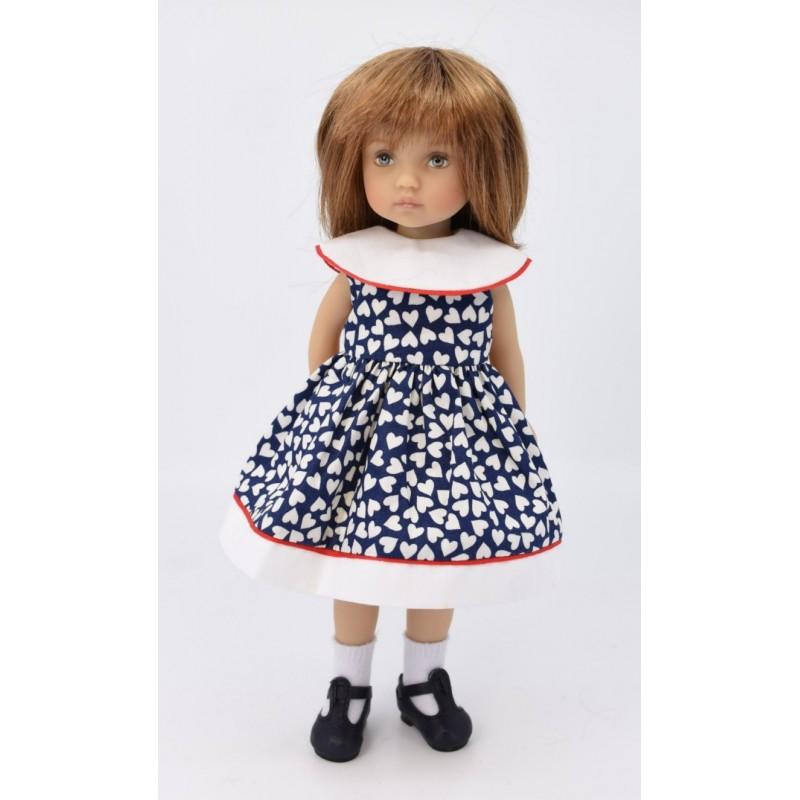 dress with round collar 24 cm