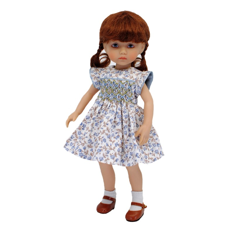 Floral smocked dress 24cm