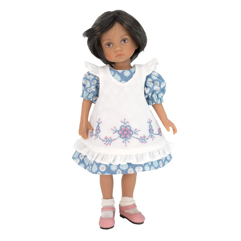 Floral dress with pinafore 24 cm