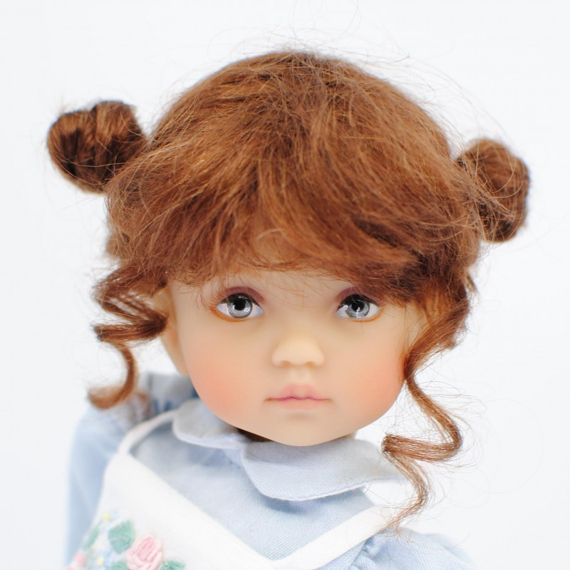 Doll wig double buns 5-6