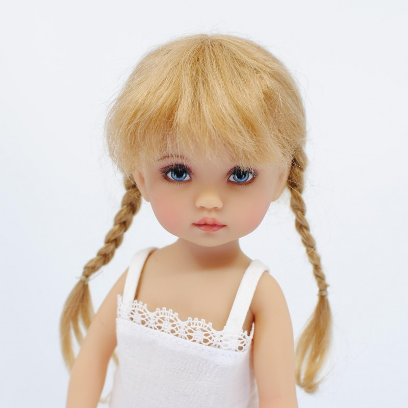 Mohair wig long straight braids 5-6