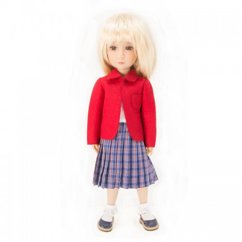 School uniform with red jacket