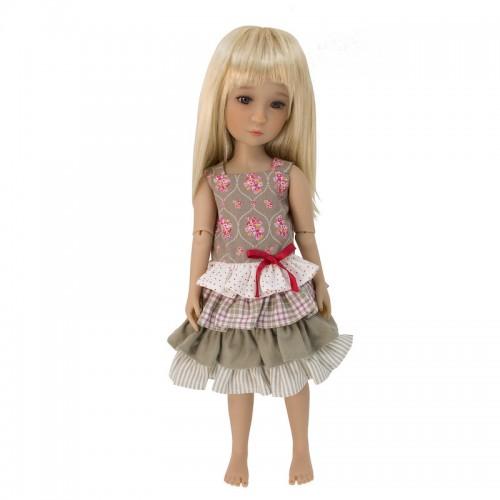 Gerüschtes Kleid 36cm