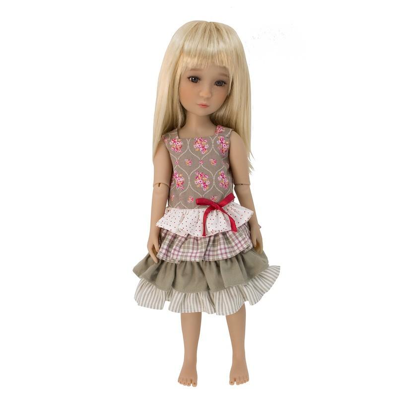 ruffled summer dress 36cm