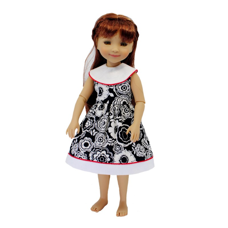 Dress with round collar 36cm