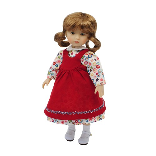 Modern dress with pinafore 24 cm