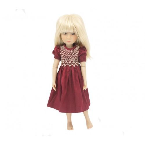 Smocked Silk Dress 36cm