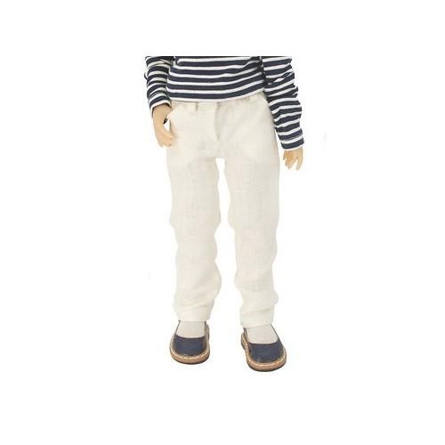 Cremefarbene Leinen Jeans 36cm