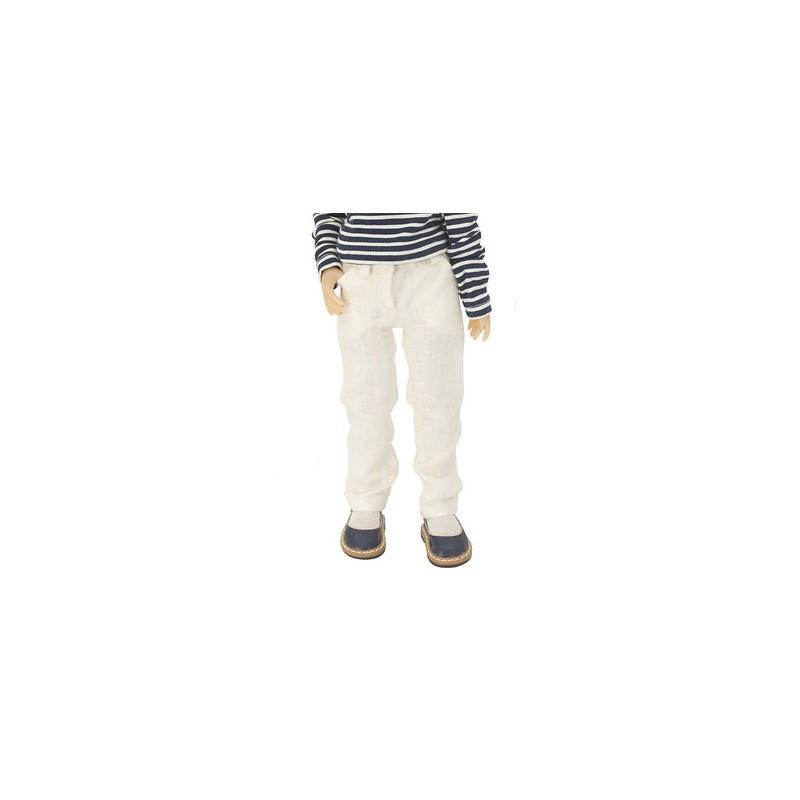 Linen Cream white 5 pocket jeans 36cm