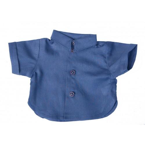 Bubenhemd blau Kurzarm