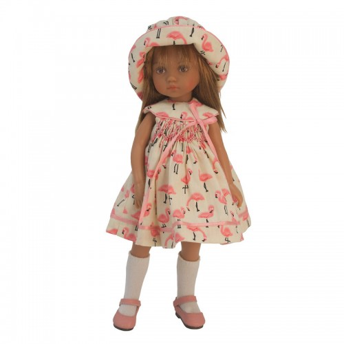 Dress set with hat and bloomers 24 cm