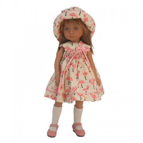 Kleiderset mit Hut und Höschen 24cm