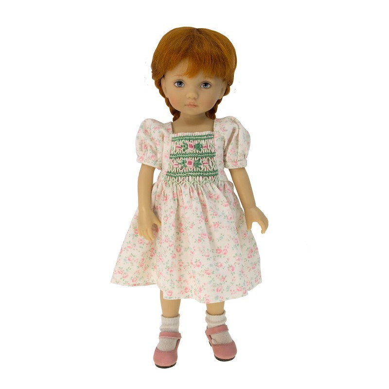 Floral smocked dress with roses 24cm