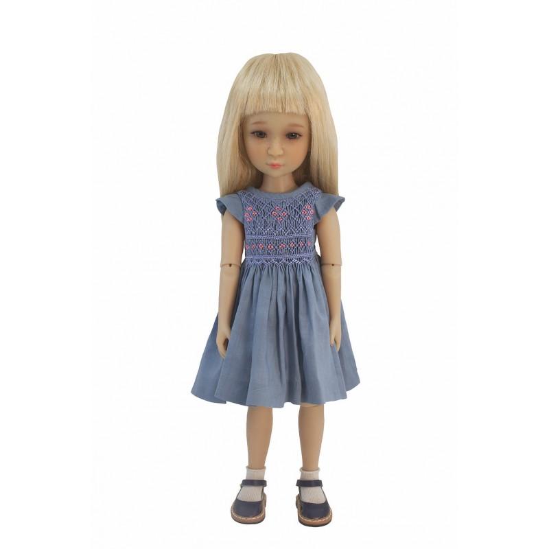 Blue smock dress 36cm