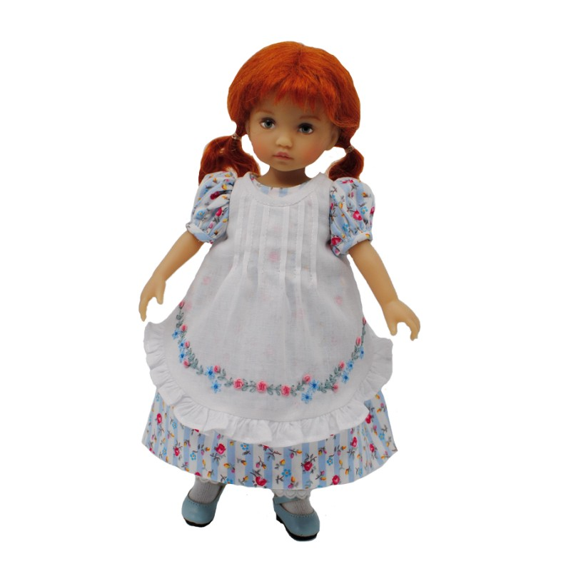 Empire dress with ruffled apron 24 cm