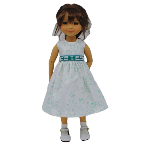 Kleid mit besticktem Gürtel 33-36cm