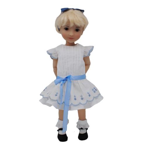 Vintage Kleid weiß 28cm