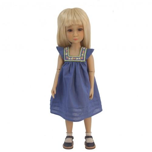 Besticktes Kleid 36cm